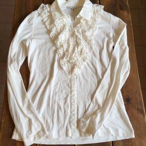 🍭CAbi Long Sleeve Shirt w/Ruffle Detail